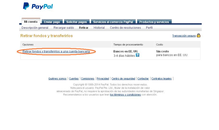 Retirar fondos de Paypal a Payoneer
