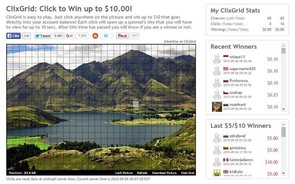 Ganar dinero con Clixgrid en Clixsense