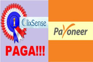 Clixsense paga: $182 USD recibidos y método de pago Payoneer