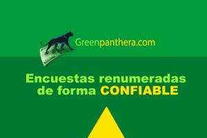 Encuestas remuneradas de forma confiable con (GreenPanthera)